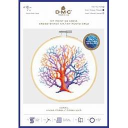 DMC Living Coral Cross Stitch Kit