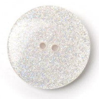 White Glitter Button