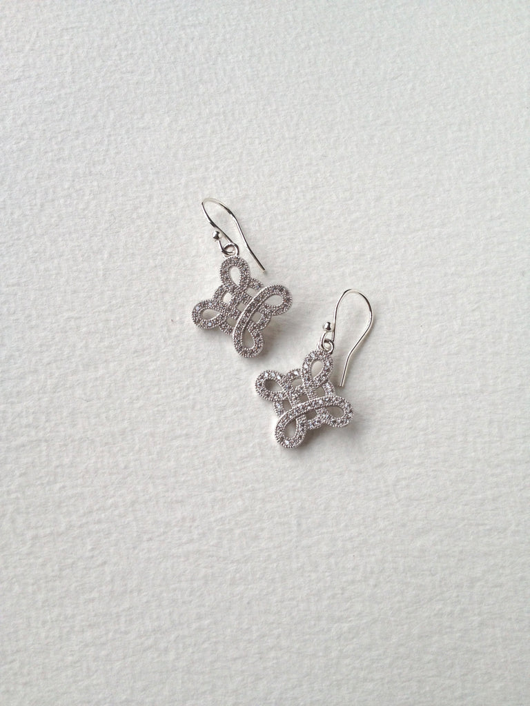 Sterling silver Forget-me-knot earrings