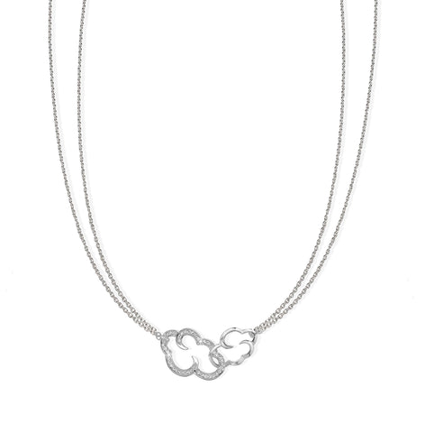 "Daydream linked clouds sterling silver necklace on 18"" chain"