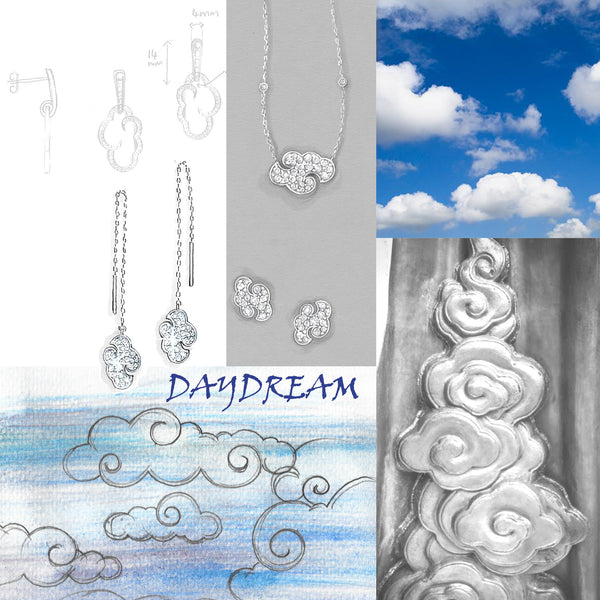 "Daydream large statement pendant in silver pendant on 30"" chain"