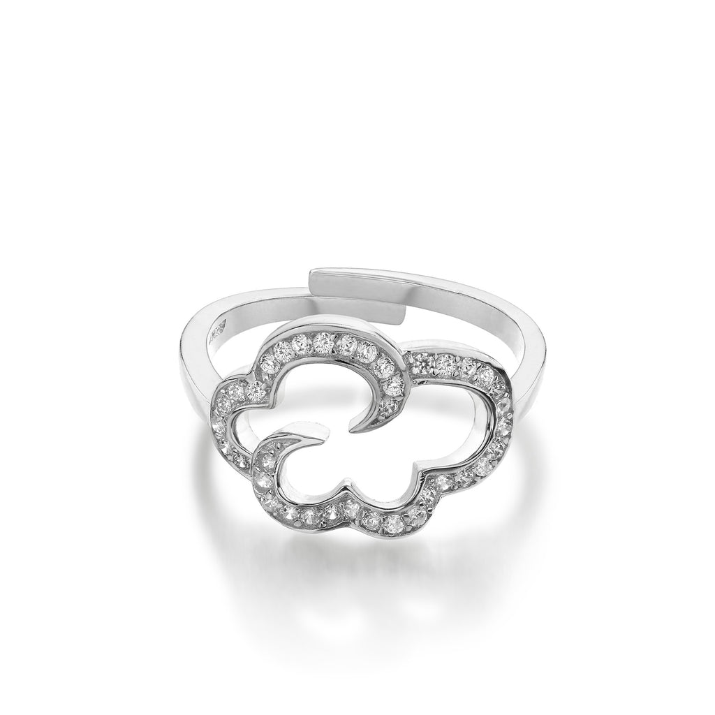 Daydream ring in rhodium plated sterling silver