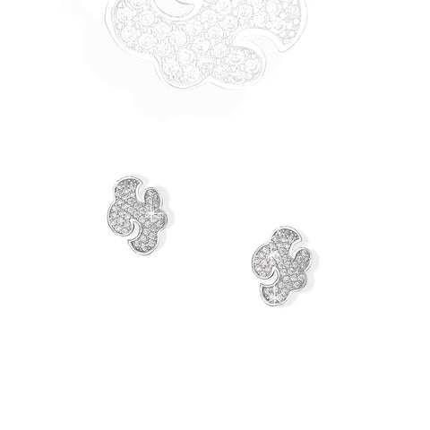 Daydream sterling silver stud earrings