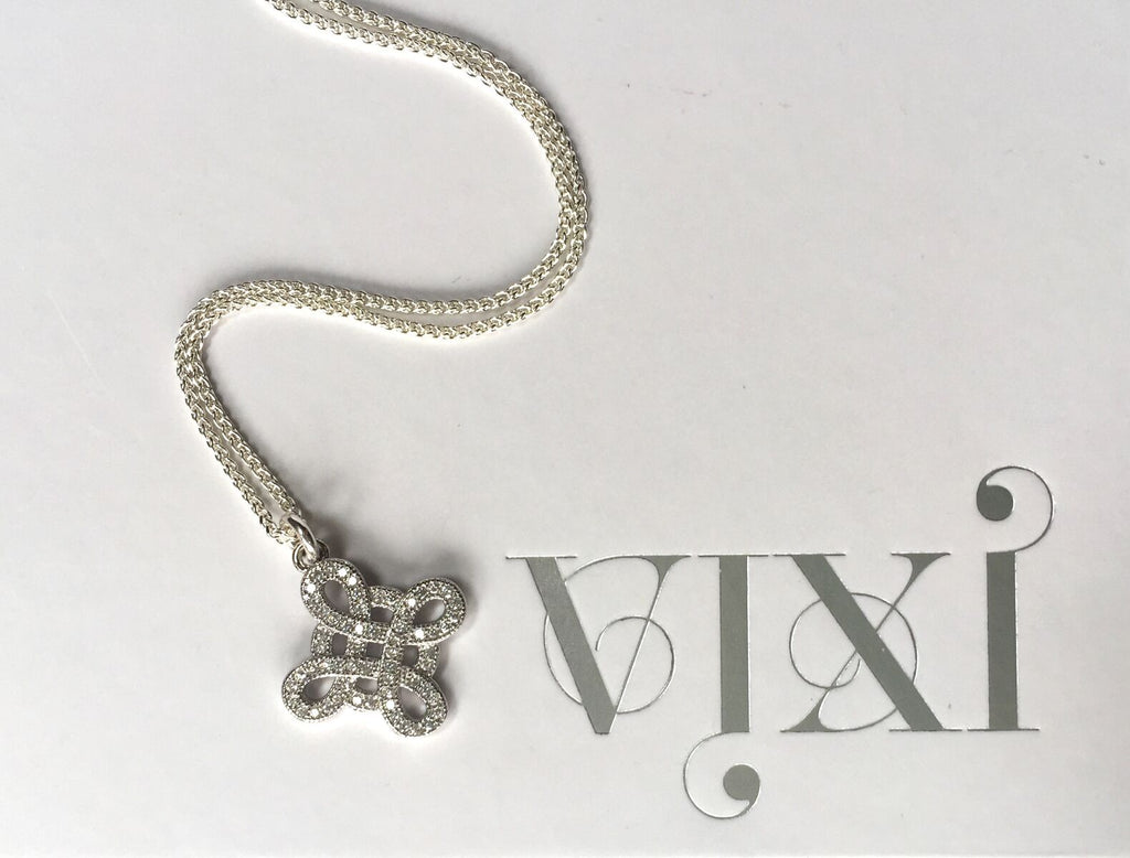 Sterling silver Forget me knot pendant