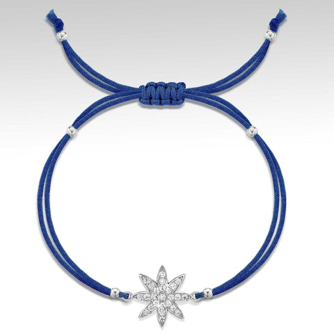 Nova - silver friendship bracelet in navy
