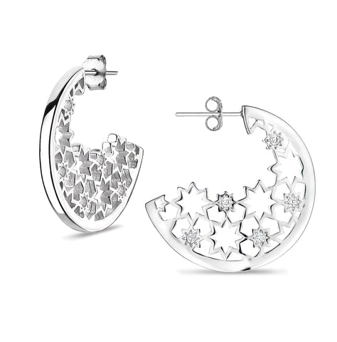 Nova Night statement hoop earrings