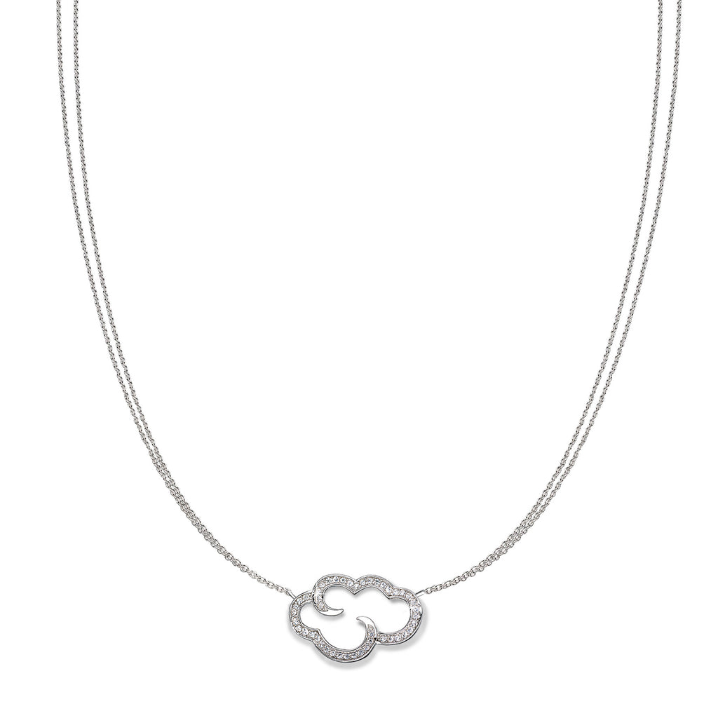 "Daydream 'open cloud' silver pendant on 18"" chain"