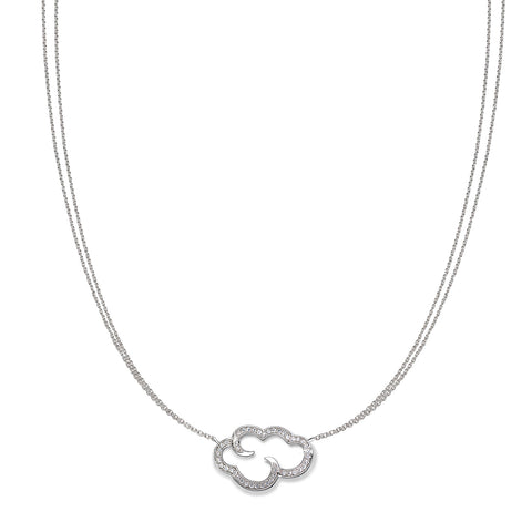 "Daydream 'open cloud' sterling silver pendant on 18"" chain"