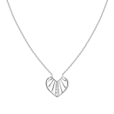 SUNBEAM pendant, rhodium plated sterling silver