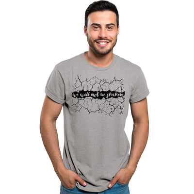 """We Will Not Be Shaken"" - Men's Triblend Tee - Walk by Faith Apparel"