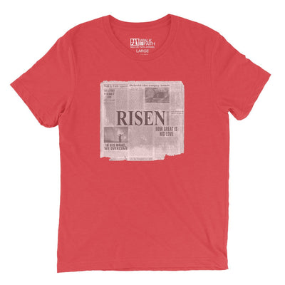 """Good News"" - Men's Triblend Tee - Walk by Faith Apparel"