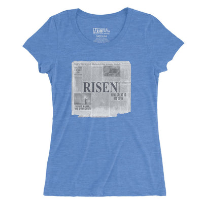"""Good News"" - Women's Fitted Triblend Tee - Walk by Faith Apparel"