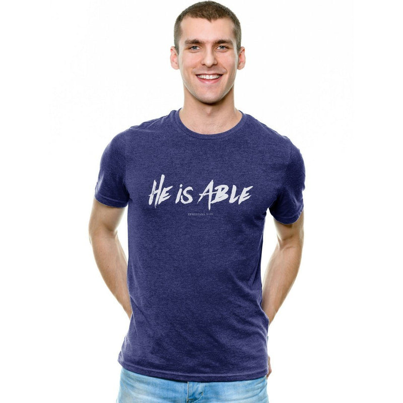 """He is Able"" - Men's triblend Tee - Walk by Faith Apparel"