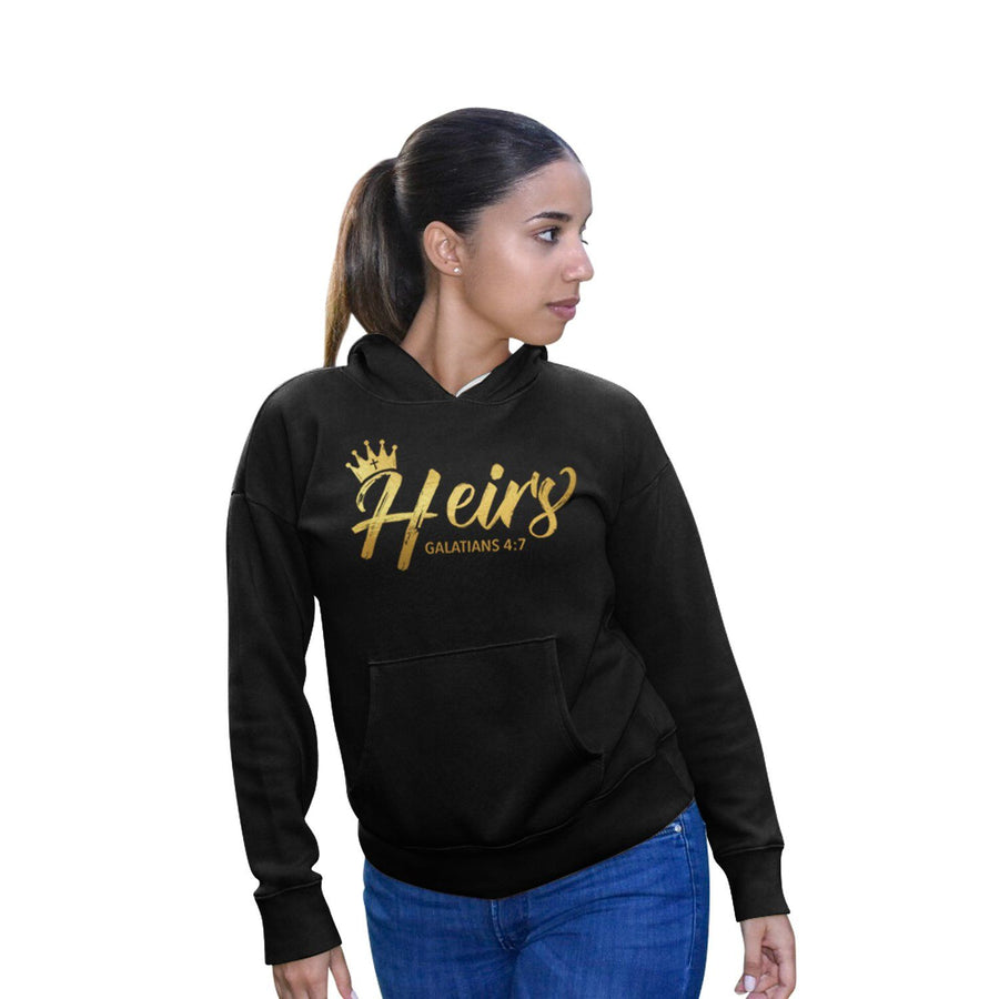 """Heirs"" - Women's Fleece Hoodie - Walk by Faith Apparel"
