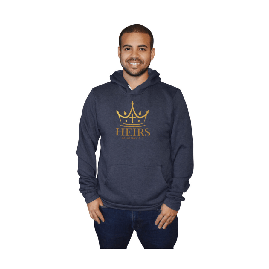 """Heirs"" - Men's Fleece Hoodie - Walk by Faith Apparel"