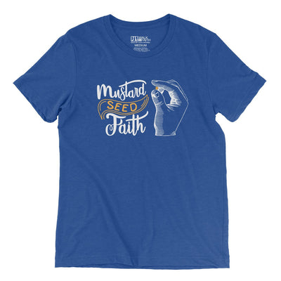 """Mustard Seed Faith"" - Men's Triblend Tee - Walk by Faith Apparel"