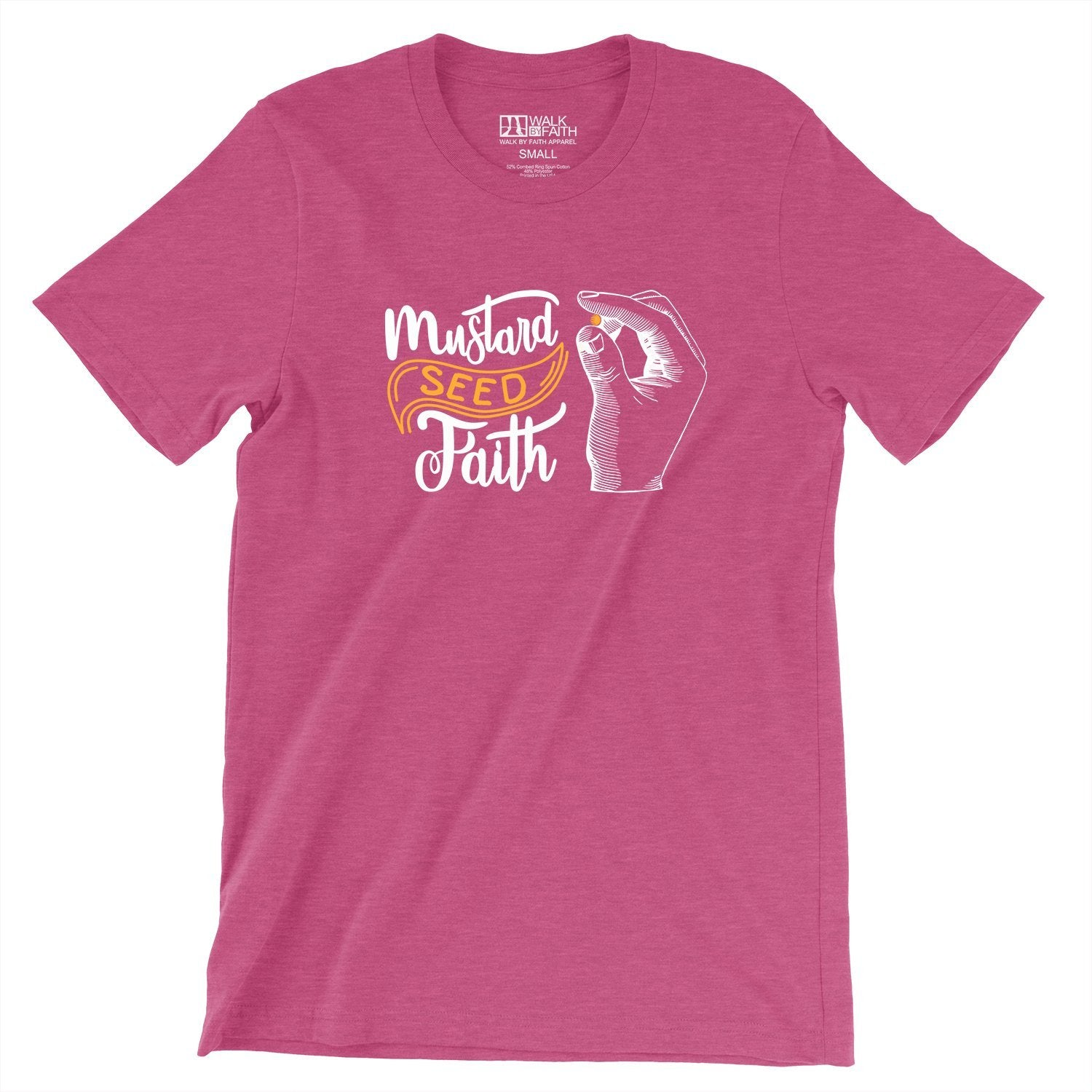"""Mustard Seed Faith"" - Women's Classic Cotton Tee - Walk by Faith Apparel"