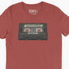 Praise & Worship Playlist (Vintage Cassette) - Clay Unisex Triblend Tee - Walk by Faith Apparel