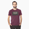 """Praise & Worship Playlist"" (Vintage Cassette) - Maroon Unisex Triblend tee - Walk by Faith Apparel"