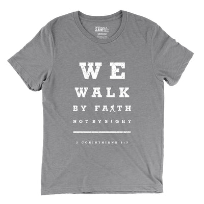 """Walk by Faith"" - Men's Triblend Tee - Walk by Faith Apparel"