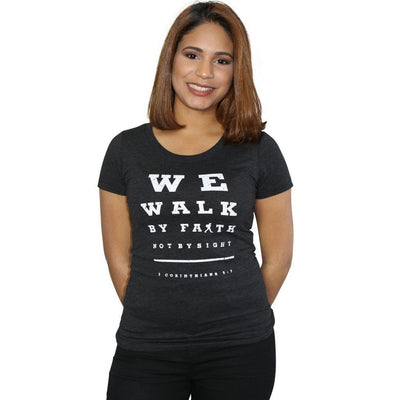 """Walk by Faith"" - Women's Fitted Triblend Tee - Walk by Faith Apparel"
