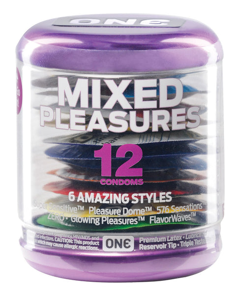 ONE Mixed Pleasures Condoms - Jar of 12
