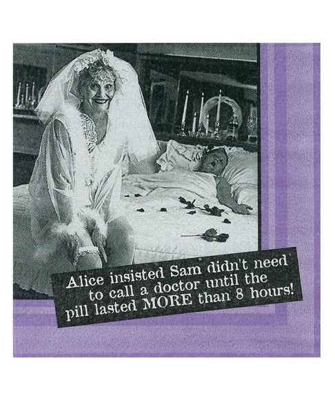 Sexy Soft Bodies Alice Insisted Sam Sam Didn't Need to Call a Doctor....Napkins - Set of 20