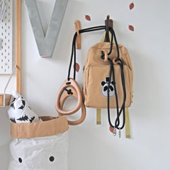 Playroom and garden kids swing in FSC sustainable wood