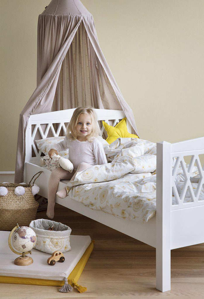 Cam Cam Copenhagen Harlequin Extendable Junior Bed White