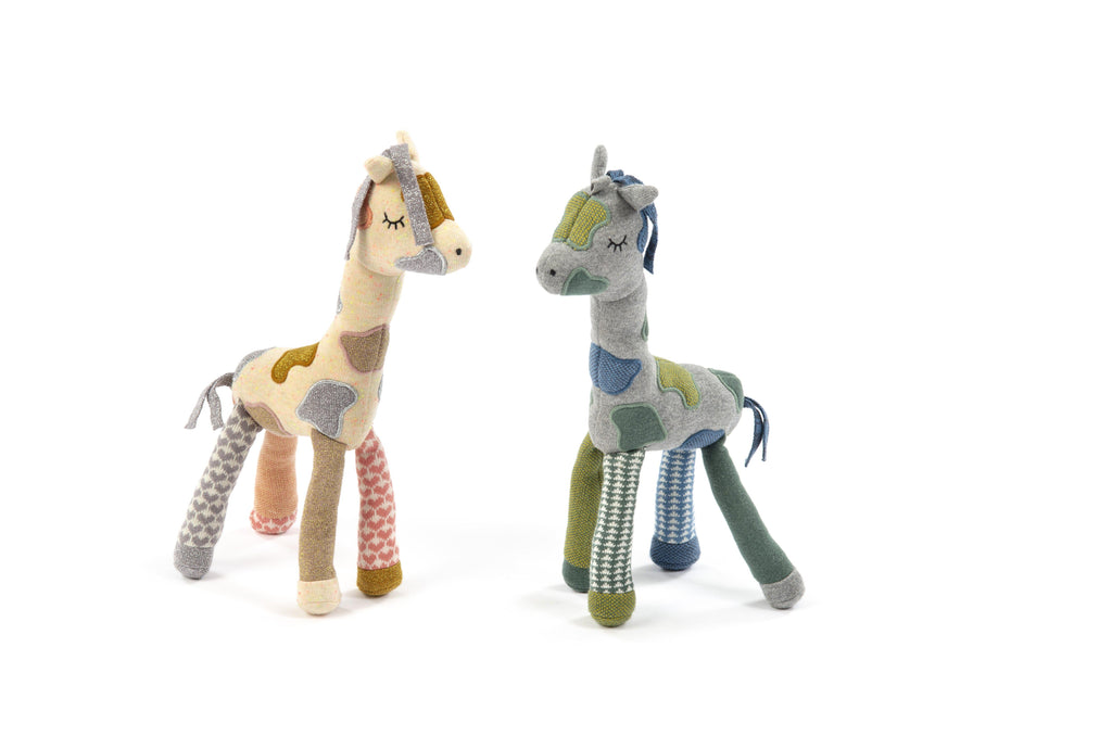 Activity Toy Giraffe - Peach/Cream-Smallstuff-BoNordic