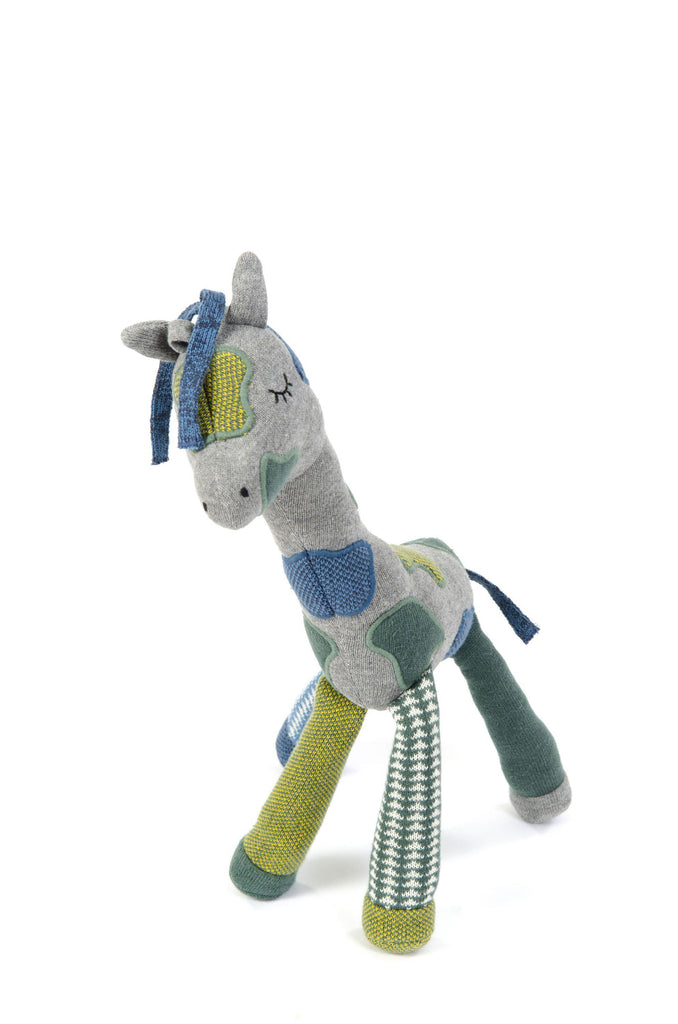 Activity Toy Giraffe - Petrol/Grey-Smallstuff-BoNordic