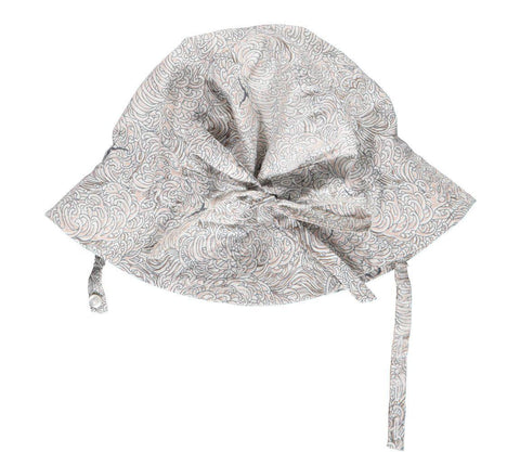 Organic Cotton Sea Shell Bonnet In White