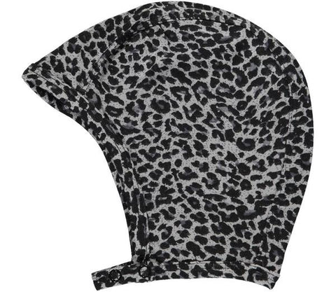 Teething and Dribble Bib Leopard Print grey