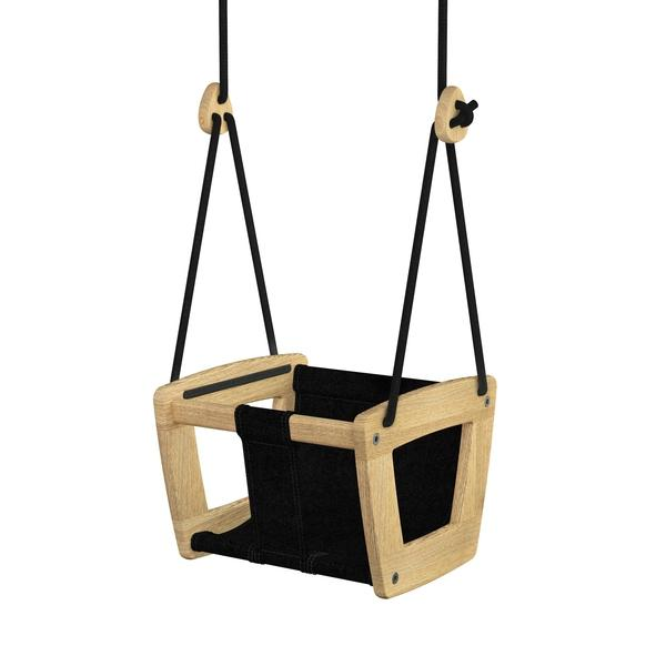 LILLA GUNGA ACTIVE PLAY | WOODEN BABY / TODDLER SWING IN OAK - BONORDIC