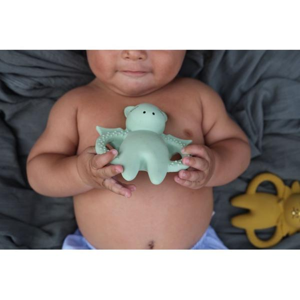 Rubber Baby Teething Toy - Konges Sloejd Unicorn Soother - BONORDIC