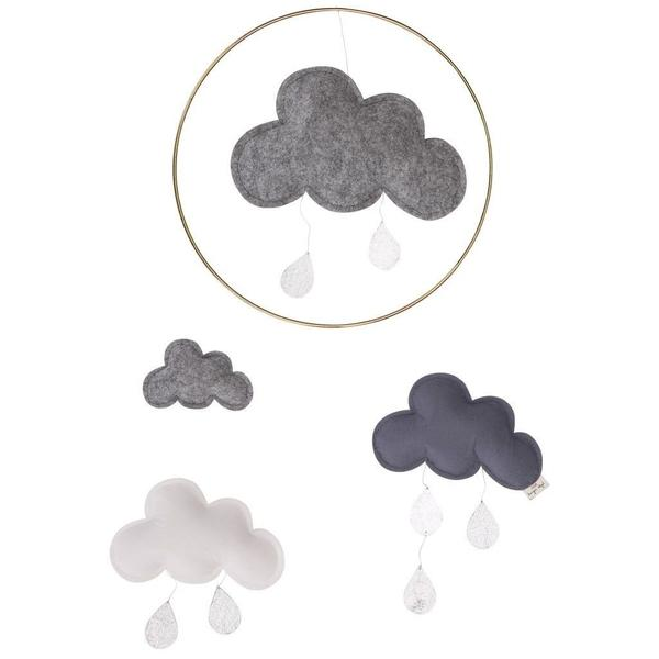 Cloud and Raindrops Mobile - Odin-Konges Sloejd-BoNordic