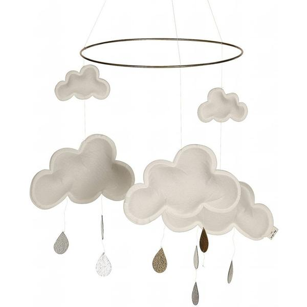 Konges Sloejd Cloud and Raindrops Mobile Snowberry - BONORDIC