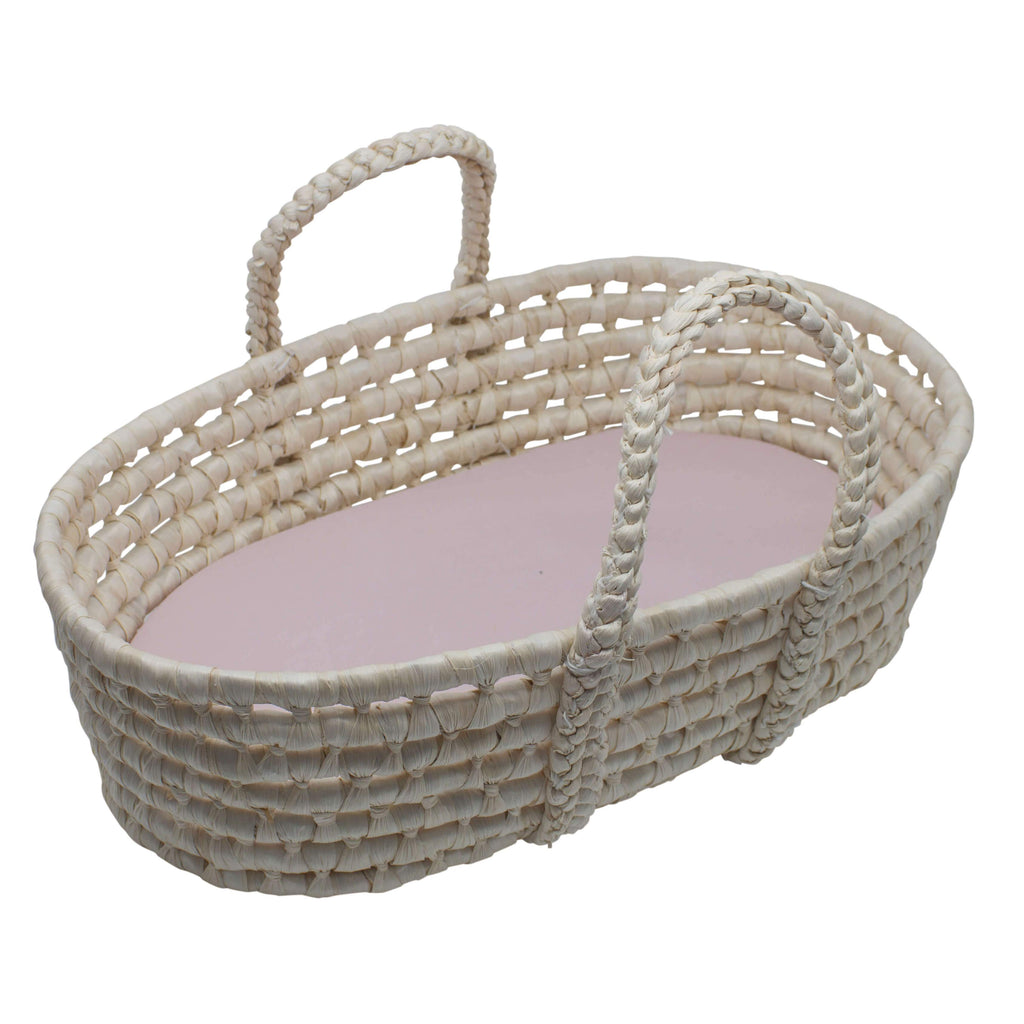 Dolls Wicker Carry Cot-Sebra-BoNordic