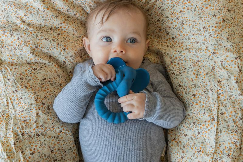 Elephant Teether - Natural Rubber-Natruba-BoNordic