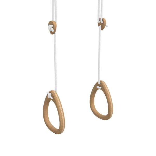 Indoor Gymnastics Trapeze Rings In Oak Lillagunga