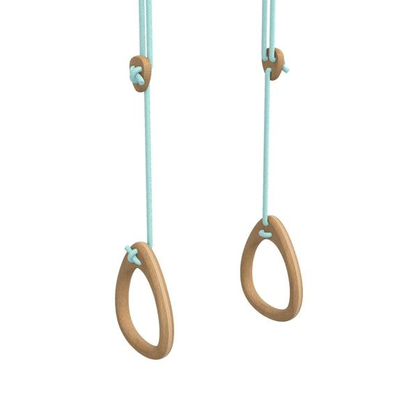 Indoor wooden gymnastics rings - Kids active Play Equipment