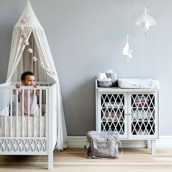 Cam Cam Copenhagen Harlequin Baby Changing Table - White