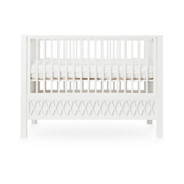 White Baby Cot Bed / Toddler Bed | The Harlequin cot by Cam Cam