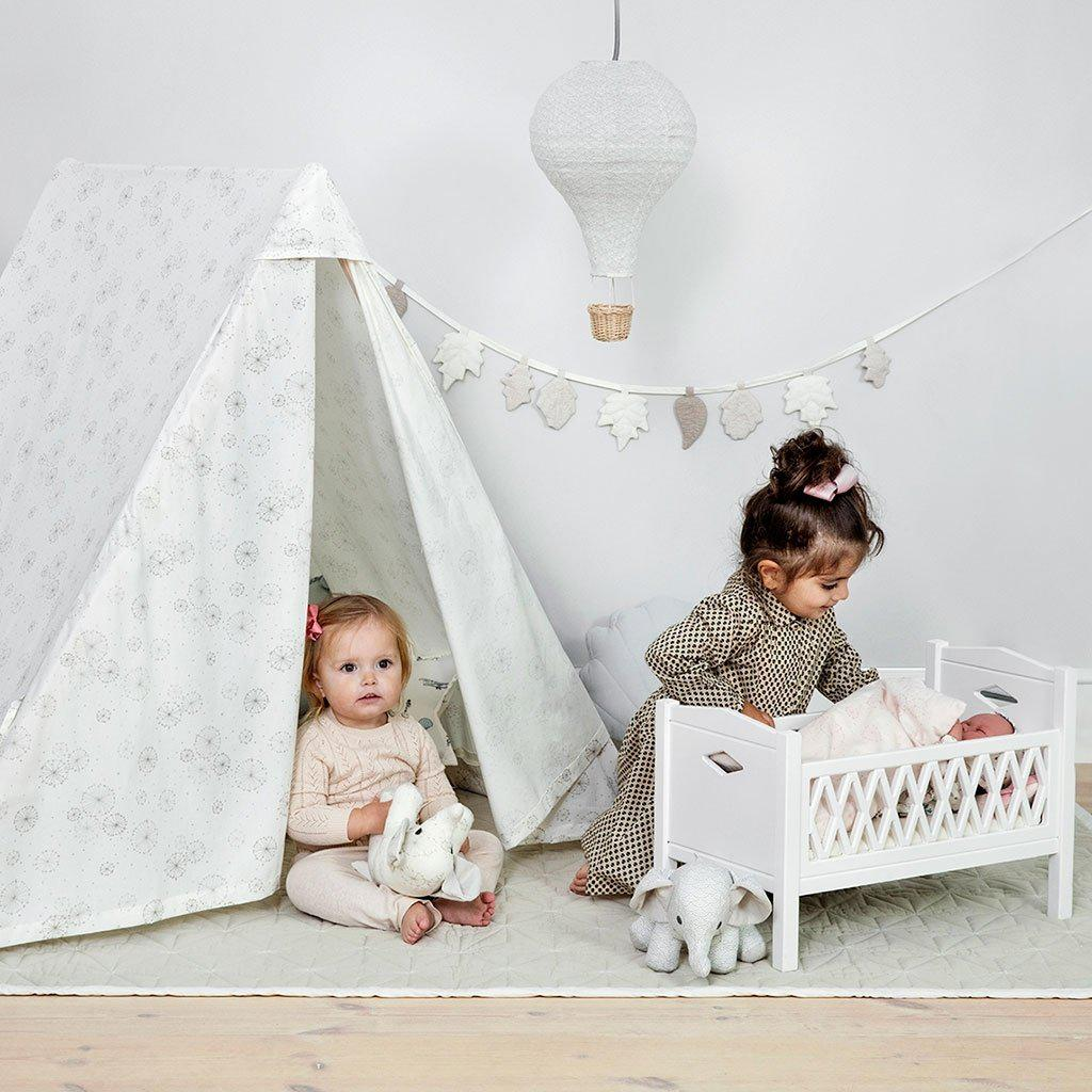 Harlequin Dolls Cot in White-CamCam-BoNordic