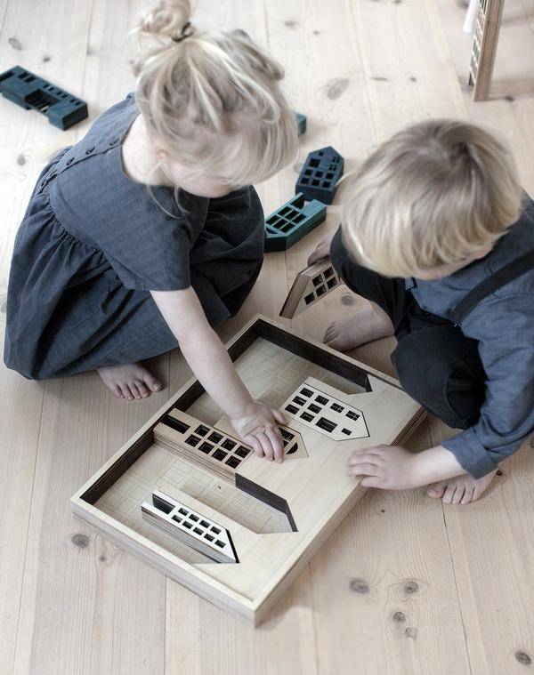 Handmade Wooden Toys - Wooden Blocks Metropol by Stories in Structures - BONORDIC