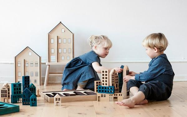 Wooden Construction Toys - Metropol by Kolekto- BONORDIC