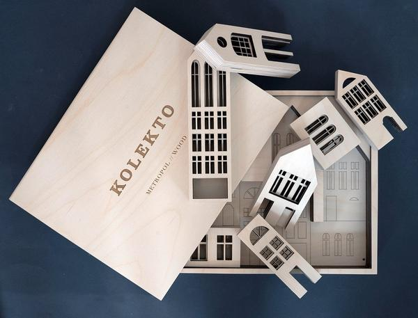 Wooden Building Blocks - Metropol by Kolekto