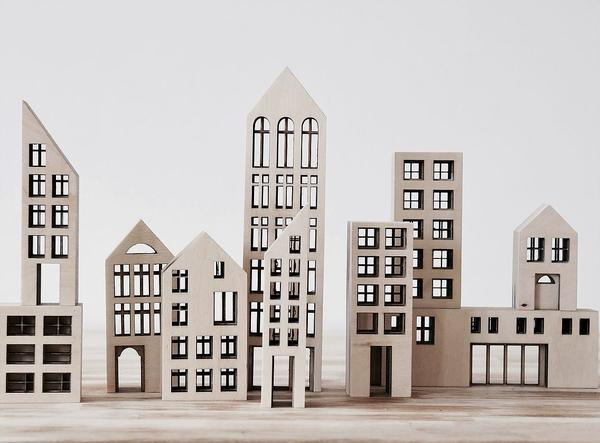 Kolekto Wooden Metropol Building Blocks - BONORDIC