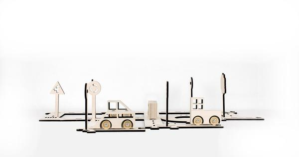 Kolekto Traffic - Wooden Road Tracks-Stories in Structures-BoNordic