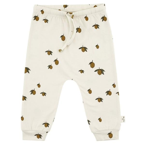 Konges Sloejd Lemon Baby Bottoms In Organic Cotton